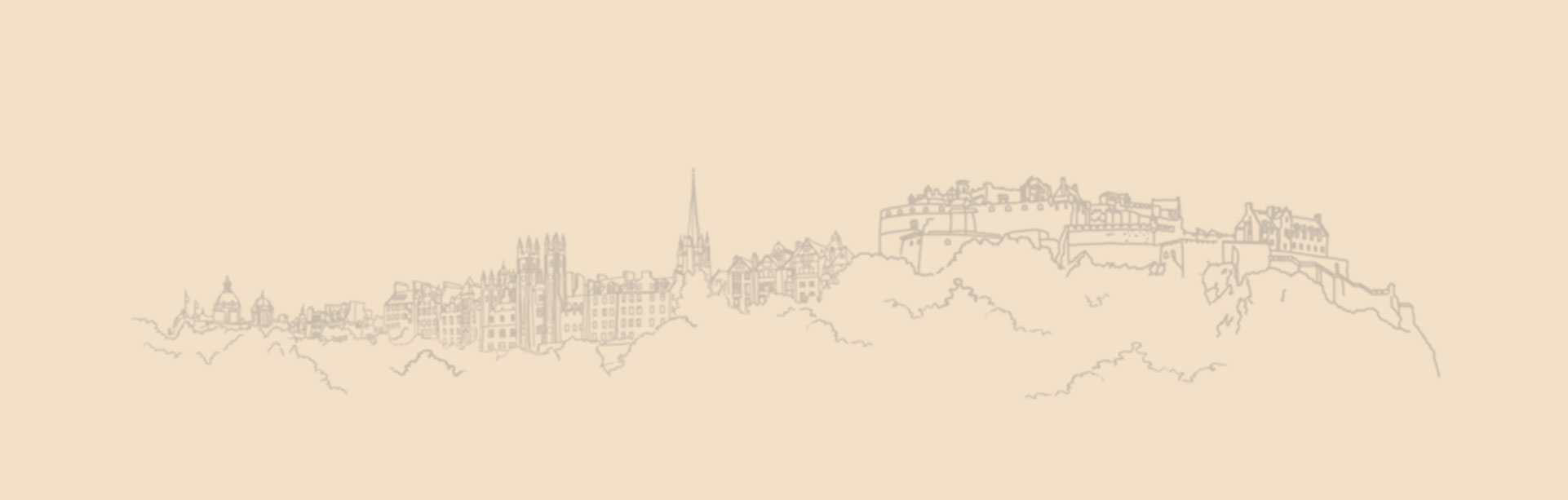 Edinburgh paper drawn skyline castle
