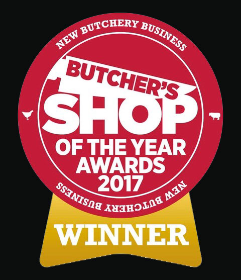 Butcher shop of the year award 2017 for tom courts butchery in Burntisland